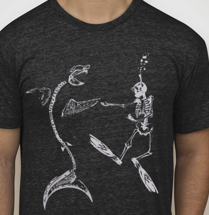 Daning Into Extinction, New Shark Shirts from White Shark Video